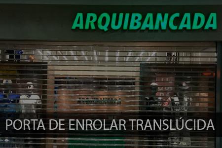 Porta de enrolar translúcida